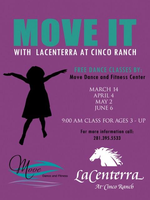 Move It with LaCenterra at Cinco Ranch | April @ lacenterra